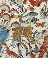 Detail of tomb painting shown above